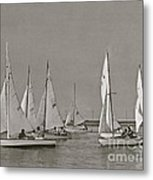 Comet Race In Black And White  Metal Print