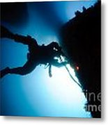 Commercial Diver At Work Metal Print