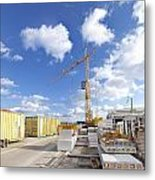 Construction Site Metal Print by Hans Engbers