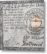 Continental Currency, 1779 Metal Print