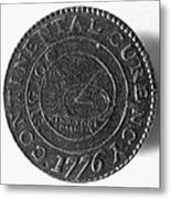 Continental Dollar, 1776 Metal Print