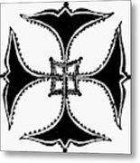 Coptic Cross Metal Print