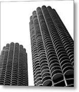 Corn Buildings Chicago Metal Print