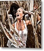 Corn Field Horror Metal Print