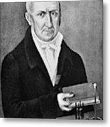 Count Alessandro Volta (1745-1827) Metal Print