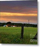 Country Evening Metal Print
