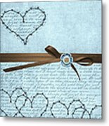 Country Hearts Metal Print