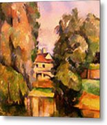 Country House By A River Metal Print
