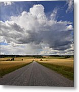 Country Road Metal Print by Conny Sjostrom