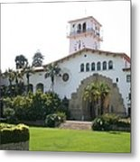 Courthouse Santa Barbara Metal Print