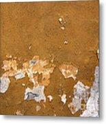Cracked Stucco - Grunge Background Metal Print