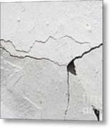 Cracked Stucco Metal Print