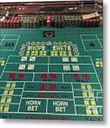 Craps Table At Harrah's Cherokee Casino Resort And Hotel Metal Print