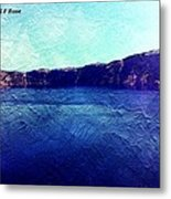 Crater Lake As A Painting Metal Print