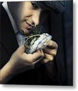 Criminal With Weeds And Green Grass Metal Print