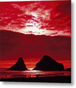 Crimson Sunset Metal Print