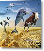 Crop Circles Explained Metal Print