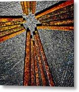 Cross Of Nails Metal Print