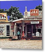 Crossroads Store Bar Juke Joint And Gas Station Fsa Marion Post Wolcott Melrose Louisiana Metal Print