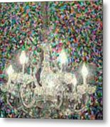 Crystal Chandelier Metal Print