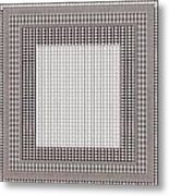 Crystal White And Gray Dots Design Pattern Shade Deco Decoration Metal Print