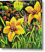 Cups Of Gold Metal Print