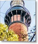 Currituck Beach Lighthouse On The Outer Banks Of North Carolina Metal Print