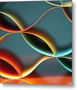 Curved Colorful Sheets Paper With Mirror Reflexions Metal Print