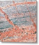 Cut Surface Showing Granite Invading Gneiss Metal Print