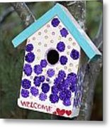 Cute Little Birdhouse Metal Print