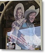 Dale Evans Roy Rogers Cardboard Cut-outs Flag Reflection Helldorado Days Tombstone 2004 Metal Print