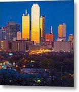 Dallas Skyline Metal Print