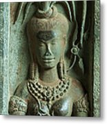 Dancing Goddesses Carving At Angkor Wat Cambodia Metal Print