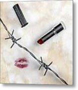 Dangerous Kisses Metal Print