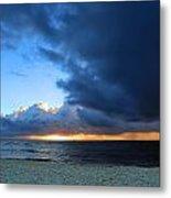 Dawn Over The Ocean Metal Print