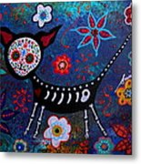 Day Of The Dead Chihuahua Metal Print