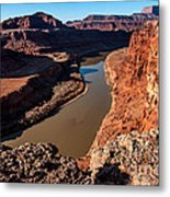 Dead Horse Point Colorado River Bend Metal Print