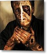 Dead Man Smoking Metal Print