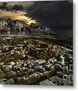 Dead Sea Sink Holes Metal Print