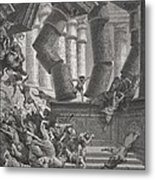 Death Of Samson Metal Print by Gustave Dore