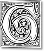 Decorative Initial G Metal Print