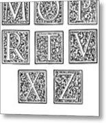 Decorative Initials, C1600 Metal Print