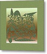 Delicate Green Stroke Metal Print