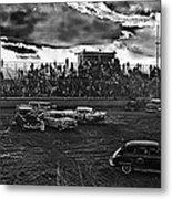 Demolition Derby Rain Storm Clouds Tucson Arizona 1968 Metal Print