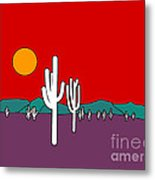 Desert Sunset Metal Print