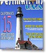 Destinations Usa Faux Magazine Cover Metal Print