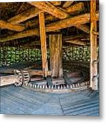 Detail Of A Typical Ukrainian Antique Mill Metal Print
