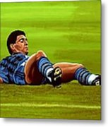 Diego Maradona 2 Metal Print