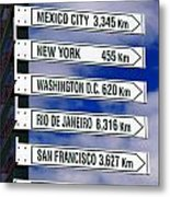 Direction Signs Metal Print