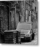Dirty Back Streets Mono Metal Print